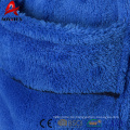 2018 cheap fancy coral fleece hooded children bathrobe with satin piping
