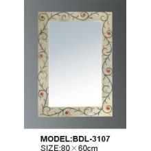 Espejo de baño de vidrio de 5 mm de espesor de plata (BDL-3107)