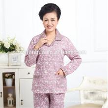 Alta juego de las mujeres pijamas caliente barata calidad venta por mayor
