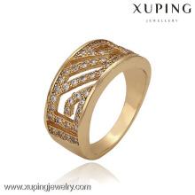 13309 xuping moda 18k oro plateado anillo de dedo anillo de oro para niñas