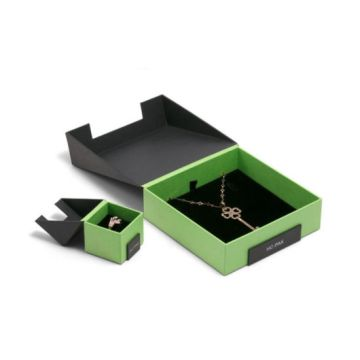Bevel Connection dan Flap-Open Paper Jewelry Watch Box