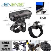 Se adapta a todas las bicicletas, fácil instalación (sin herramientas), de liberación rápida, resistente al agua 120 Lumen USB Bike Light