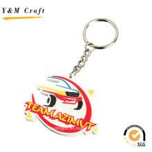 3D prägeartige kundengebundene PVC-Schlüsselringe für Großverkauf Ym1113
