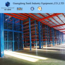 Mezanino de cremalheira do Decking do metal com GV / ISO para o armazenamento do armazém