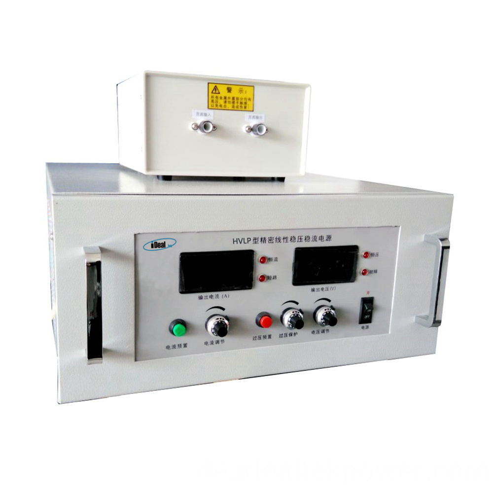 High Voltage Benchtop Linear Power Supply Front Panel