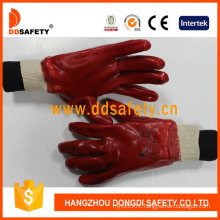 Ddsafety Hot Sale Red PVC Fully Dipped Gloves