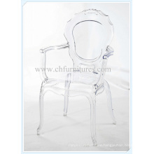 Elegant Transparent PC Chair / Plastic Chair with Arm for Home (YC-P31)