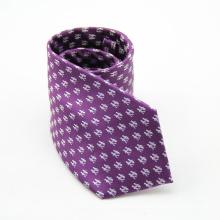 Polka Dots texturierte gewebte Mikrofaser-Hals-Krawatte