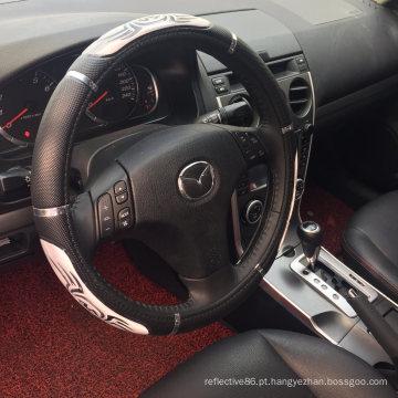 Estilos de 38 cm de capa de volante de carro com logotipo reflexivo de PVC
