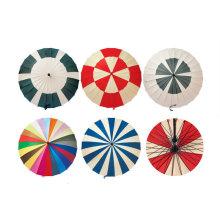 Parapluie droit manuel de 24 côtes avec différents modèles (YS-R1082R)