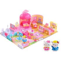 Hello Kitty House Play Set Mini Play House Plasstic Toy