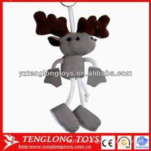 Juguete reflexivo de la felpa del juguete del nuevo de la Navidad del diseño reflexivo de los alces