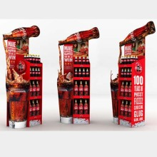 Supermarkt Promotion Cola Display Rack Stand