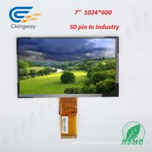 "Interfaz RGB de 7 ""de 50 pines Pantalla LCD TFT incorporada para PC"