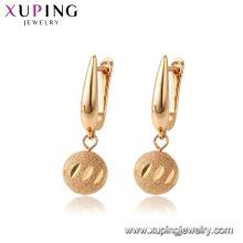 96970 Xuping Umwelt Kupfer Drop vergoldet Ohrring Frauen