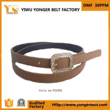 Hermoso de calidad superior de fantasía perla de las niñas ajustable cinturón de cinturón de encargo formal para los vestidos
