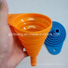 Utensilios de cocina creativos Portátil ecológico de silicona plegable embudo