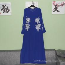 Топ моды длинными выровненными рукавами новой модели dubai abaya 2016