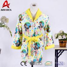 Cute hooded fleece bathrobe children's pajamas sleepwear for kids