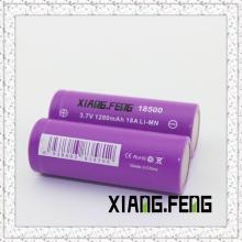 3.7V Xiangfeng 18500 1200mAh 18A Batterie au lithium rechargeable Imr 3.7V Batterie au lithium