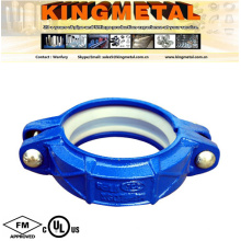 """FM UL Approved 3"""" Cast Iron Blue Flexible Grooved Coupling"""