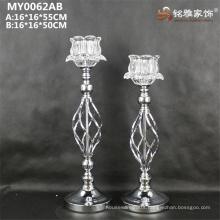 Metal base glass votive candle holder for wedding favor centerpiece decoration
