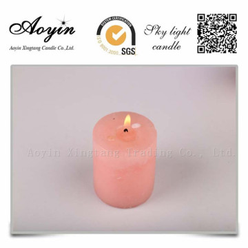Tamanho diferente Multi-colored Smokeless Pillar Candle