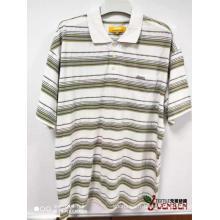 Chemises à manches courtes en jacquard 100% coton YD