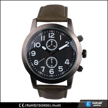 Sports watch pu leather watch strap for man