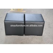 Eventing black cube ottoman XYN454
