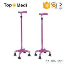 Topmedi Rehabilitation Lightwetight Aluminum Walking Quadripod Cane