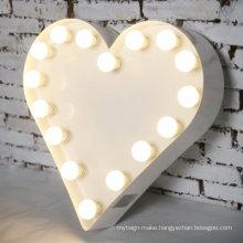 Room Decoration Bulb Lighting Letter 3D Sign Light Bulb Signs