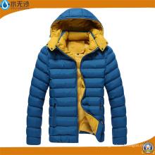 Homens de moda acolchoados casacos quentes casacos de inverno Mens Casual