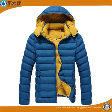 Hombres de moda abrigos acolchados invierno cálido Mens Casual Chaquetas