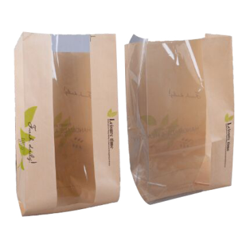 Torba Kraft Bread Packaging Bag Z Okna