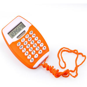Mini Pocket Calculator with Lanyard