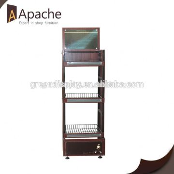Great durability movable pastry display shelf