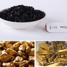 2017 carbón de calidad superior de la venta caliente 5-10mesh coco activado para la minería de oro