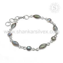 Glamouröses Labradorit Edelstein Armband 925 Sterling Silber Schmuck Handgefertigte Online Indian Schmuck