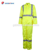 Durable Material Construction Worker Reflective Coverall