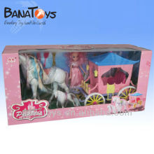 Two colors toy horse for kid, big and plastic