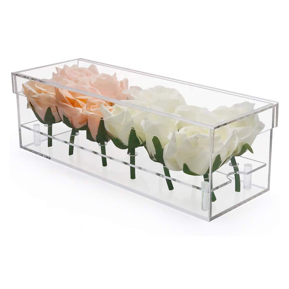Clear Flower Boxes Gift Case 12 Slots