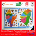 Gift for Children Flexible Rubber Magnetic Jigsaw Puzzle