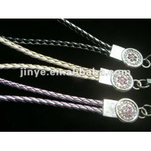 fashion neck lether braided lanyard