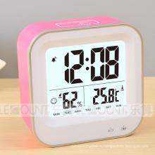 Перезаряжаемые цифровые часы с температурой и влажностью