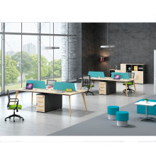 Partitions Modular Call Center Office 4 Person Workstation Staff Workstation