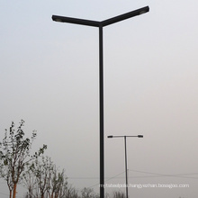 Single arm double arm 10 meters steel square street light pole price road lamp post