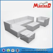 Sofá de couro exterior de sofá de couro jardim