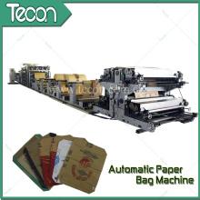 Impression à quatre couleurs à haute technologie Machine à fabriquer des sacs en papier Kraft