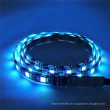 Impermeable IP65 IP67 60LED / M SMD 5050 RGBW DC 12V Flexible Negro PCB LED Luz de tira